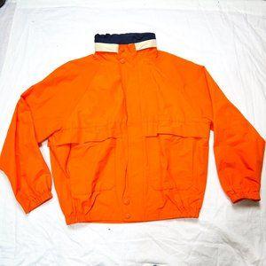 Vintage Nautica Soft Shell Jacket Orange Blue XL